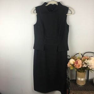 David Meister Black Sheath Midi Dress 6